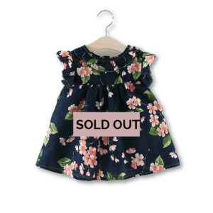 Floral Printed Puff Sleeve Cotton Dress