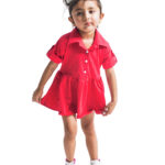 Red Collared Short Dress