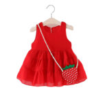 Layered Dress with Strawberry Handbag