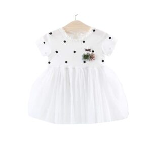 Knitted Polkadot Lace Dress